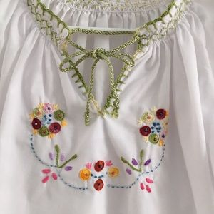 Hand embroidered boutique top purchased in Europe